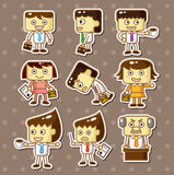 Office worker stickers Stock Image