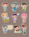 Office worker stickers Stock Photography