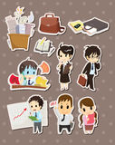 Office worker stickers Royalty Free Stock Image