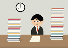 Office worker swamped with work. Stock Image