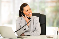 Office worker telephone Stock Photo