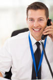 Office worker telephone Royalty Free Stock Photography