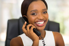 Office worker telephone Stock Photography