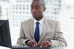 Office worker using a computer Stock Photography