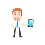 Office worker in various poses Royalty Free Stock Photography