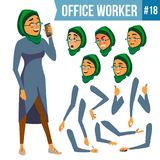 Office Worker Vector. Woman. Smiling Servant, Officer. Businessman Human. Lady Face Emotions, Various Gestures. Office Worker Vector. Woman. Professional Officer Royalty Free Stock Photos