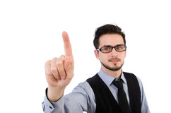 The office worker on white Royalty Free Stock Photos