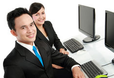 Office worker working Stock Photo