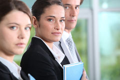 Office workers. Profile shot of successful office workers Stock Images
