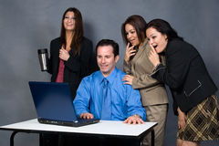 Office workers royalty free stock images