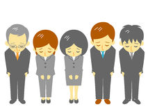 Office workers, apologize Stock Images