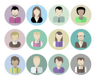 Office workers avatars on white. Royalty Free Stock Image