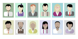 Office workers avatars on white. Stock Photography
