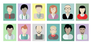 Office workers avatars on white. Royalty Free Stock Photography