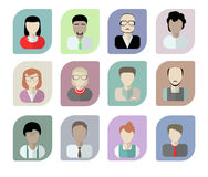 Office workers avatars on white. Royalty Free Stock Photo