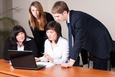 Office workers in business meeting Royalty Free Stock Photography