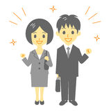 Office workers. Business person,  file Stock Image