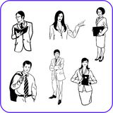 Office workers - business set. Royalty Free Stock Images