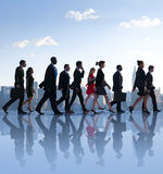 Office Workers Commuting In The Morning Royalty Free Stock Images