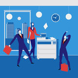 Office workers concept vector illustration in flat style Royalty Free Stock Image