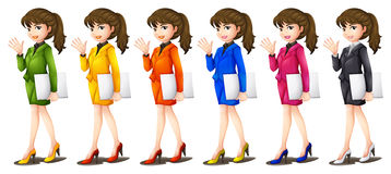 Office workers in different uniforms Stock Photo