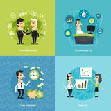 Office workers flat Royalty Free Stock Image
