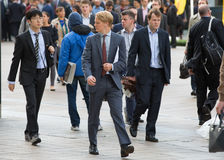 Office workers going to work. London, Canary Wharf Stock Photos