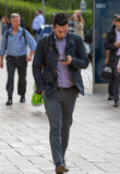 Office workers going to work. London, Canary Wharf Stock Photo