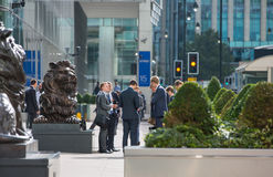 Office workers going to work. London, Canary Wharf Stock Images