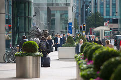 Office workers going to work. London, Canary Wharf Stock Image