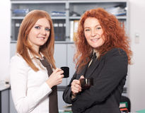 Office workers have coffee break Stock Photo