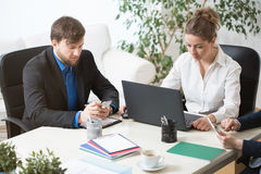 Office workers having a break Royalty Free Stock Photo