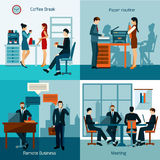 Office Workers Set Royalty Free Stock Images