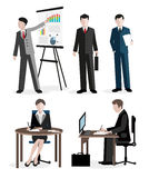Office workers set Royalty Free Stock Photography