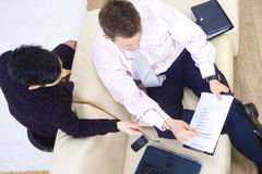 Office workers teamworking Stock Image