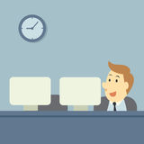 Office workers royalty free illustration