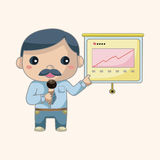 Office workers theme elements. Vector illustration file Royalty Free Stock Images