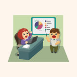 Office workers theme elements Stock Photography