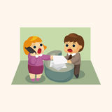 Office workers theme elements Stock Photos