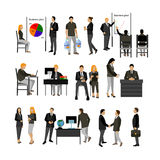 Office workers vector set. Royalty Free Stock Photos