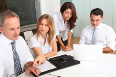 Office workers in work meeting Stock Images