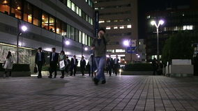 The office workers after work in Tokyo, Japan stock footage