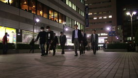 The office workers after work in Tokyo, Japan stock video