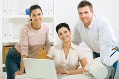 Office workers working Royalty Free Stock Image