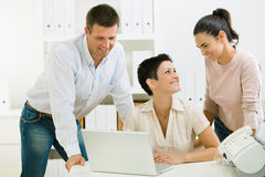 Office workers working Stock Photo