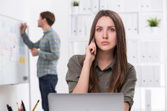 Office workers at workplace Stock Photography