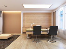Office Working Area. With modern decoration vector illustration