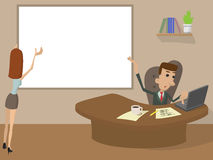 Office Working cartoon concept Stock Photography