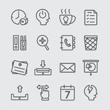 Office working line icon Stock Photography