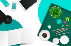 Office and working space product mockup template layout Royalty Free Stock Photos